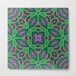 Abstract, modern, geometric, multicolored pattern Metal Print