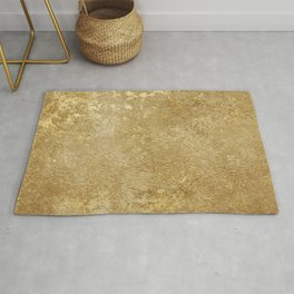 Gold Rush, Golden Shimmer Texture, Exotic Metallic Shine Graphic Design Rug