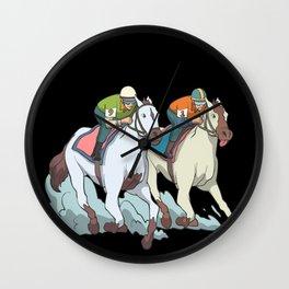 Horse racing jockey Wall Clock