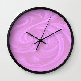 neon pink II Wall Clock