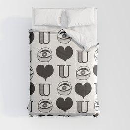 I Heart You #2 Comforters