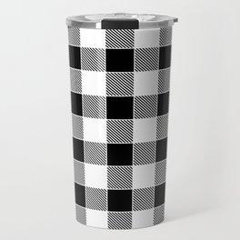 Buffalo Check - black / white Travel Mug