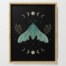 Luna and Moth - Midnight Black Serving Tray
