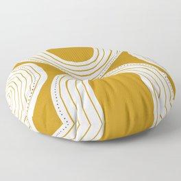 Ochre rainbow  Floor Pillow