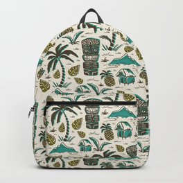 Tiki Party - Ivory Aqua Backpack