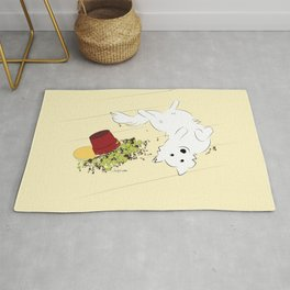 Great Pyrenees Goes Spread Eagle Rug