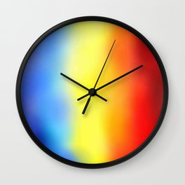 Flag of romania 7 - with cloudy colors Wall Clock