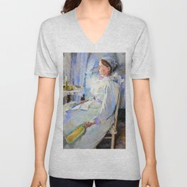 Cecilia Beaux - New England Woman - Digital Remastered Edition Unisex V-Neck