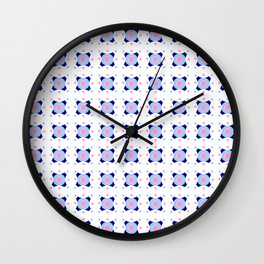 Symmetric patterns 142 Dark and light blue Wall Clock