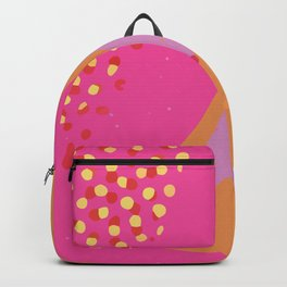 Abstract Modern Contemporary High-Contrast Background in Pink Color GC-118-1 Backpack