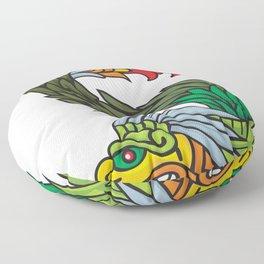 Mayan dragon Floor Pillow