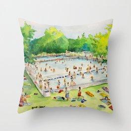 Deep Eddy Pool - Austin, Texas Throw Pillow