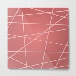 Abstract pink striped background Metal Print