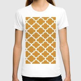 Arabesque Architecture Pattern In Golden Color T-shirt