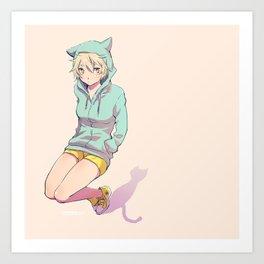 Nekomimi Art Print