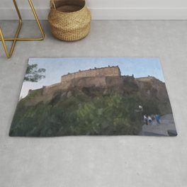 Edinburgh Castle from Johnston Terrace Rug