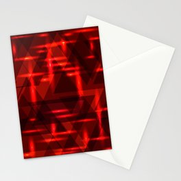 Red intersections on a dark metal background. Stationery Cards