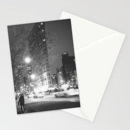 Flatiron Building NYC at Night Stationery Cards