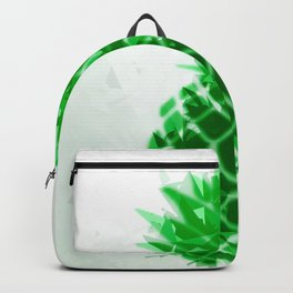 pineapple in green with geometric triangle pattern abstract Backpack