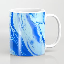 Teal watercolor marble Coffee Mug