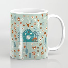 Cuckoo Clock Scandinavian Woodland Forest Coffee Mug