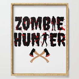 Zombie Hunter - Horror Infects Undead Blood Stain Serving Tray
