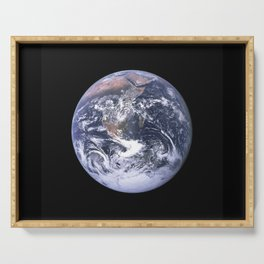 Nasa Picture 4: The earth from the space or the blue marble. Serving Tray