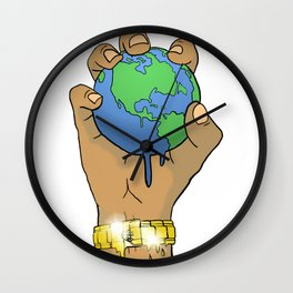 Quality Key: World at the Palm Wall Clock