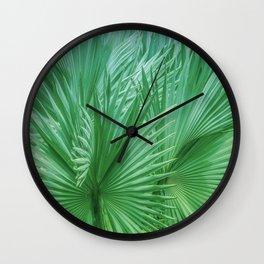 Palm Leaves: Green Hues Wall Clock