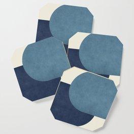 Halfmoon Colorblock - Blue Coaster