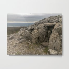 Neolithic era megalithic cemetery in County Sligo, Ireland called the Carrowkeel tombs Metal Print