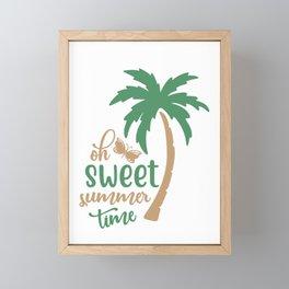Sweet summer time - Adventure Design Framed Mini Art Print