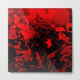 Vampire - red and black gradient swirl pattern Metal Print
