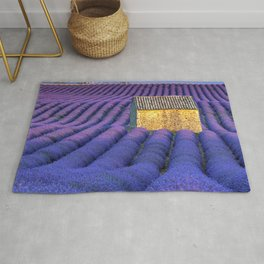 Lavender Fields In Luxurious Bloom With Caregiver's Cottage Rug
