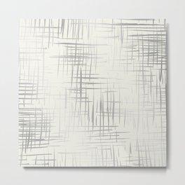 Crosshatch Silver Metal Print