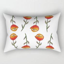 All Seeing Poppy Flower Rectangular Pillow