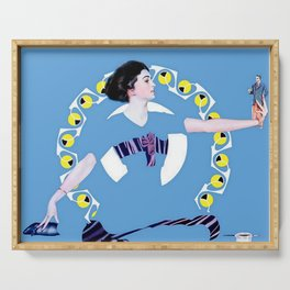 """Coles Phillips Magazine Illustration """"A Troublesome Toy"""" Serving Tray"""