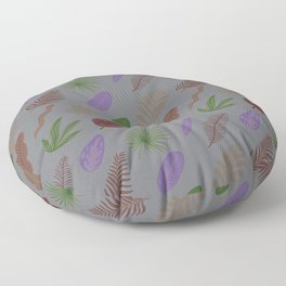 Modern abstract lavender green brown leaves pattern Floor Pillow