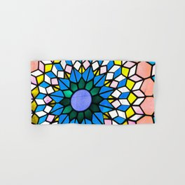 Stained Glass Blue Hand & Bath Towel