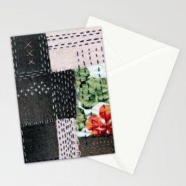 Boro Kantha Textile Art 3 Stationery Cards