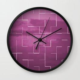 Labyrinth pink Wall Clock