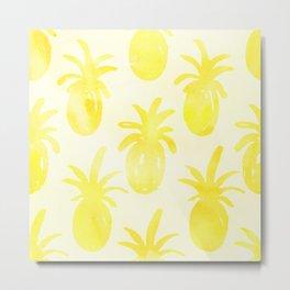 Pineapple in watercolor  Metal Print