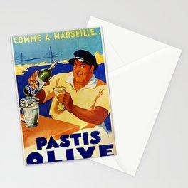Pastis Olive - Vintage Poster Stationery Cards