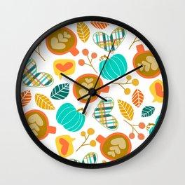Pumpkin Spice Love Wall Clock