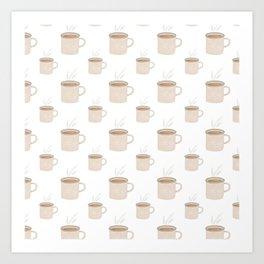 Tea and Coffee Cups Art Print