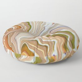 Melted Creamsicle Floor Pillow