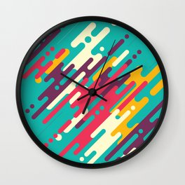 Rhythms on blue Wall Clock