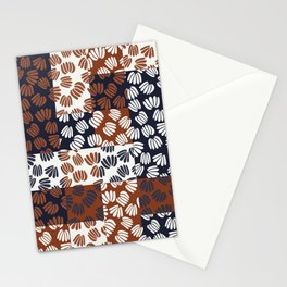 Patched Abstract Floral III Stationery Cards