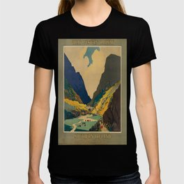 GWR Southern Ireland Vintage Travel Poster T-shirt