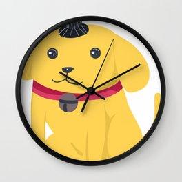 Cute Cartoon Dog Wall Clock